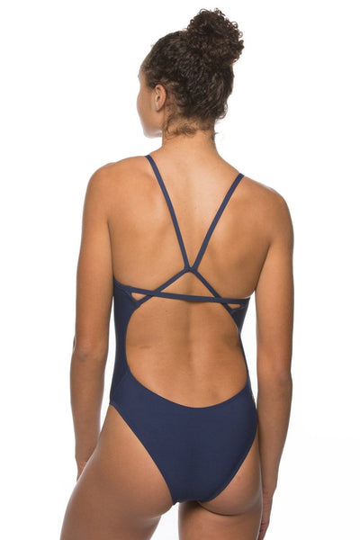 Perry Swim Onesie - Navy