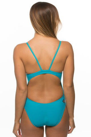 Kevin 2 Fixed-Back Onesie - Teal