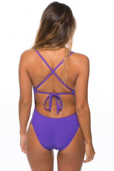 Jackson 2 Tie-Back Onesie - Purple
