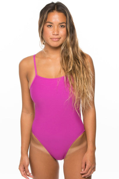 Jackson Swim Onesie - French Mulberry