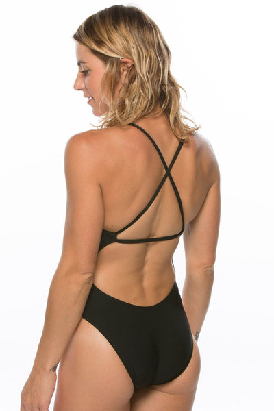 Brandon Swim Onesie - Black