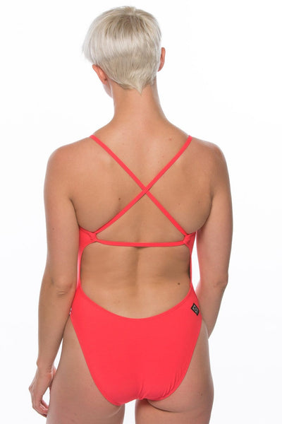 Brandon Swim Onesie - Strawberry