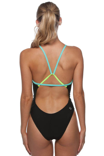 Perry Fixed-Back Onesie - Black/Beach/Highlighter Yellow