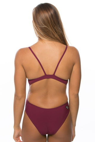 Kevin 2 Fixed-Back Onesie - Cabernet