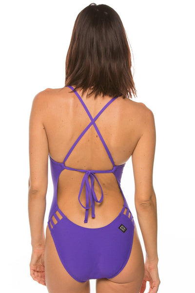 Gavin Swim Onesie - Purple