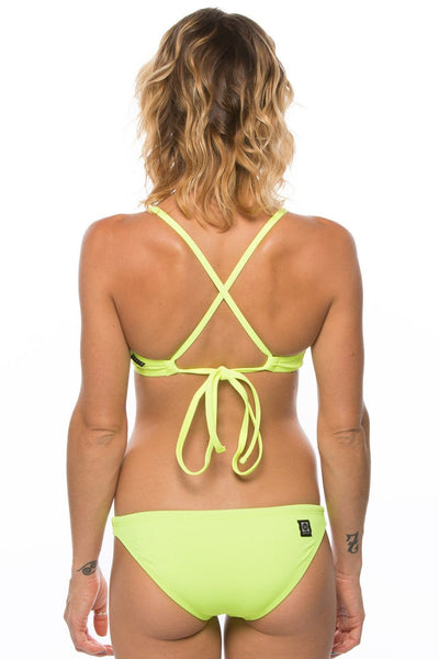 Bali Bikini Bottom - Highlighter Yellow
