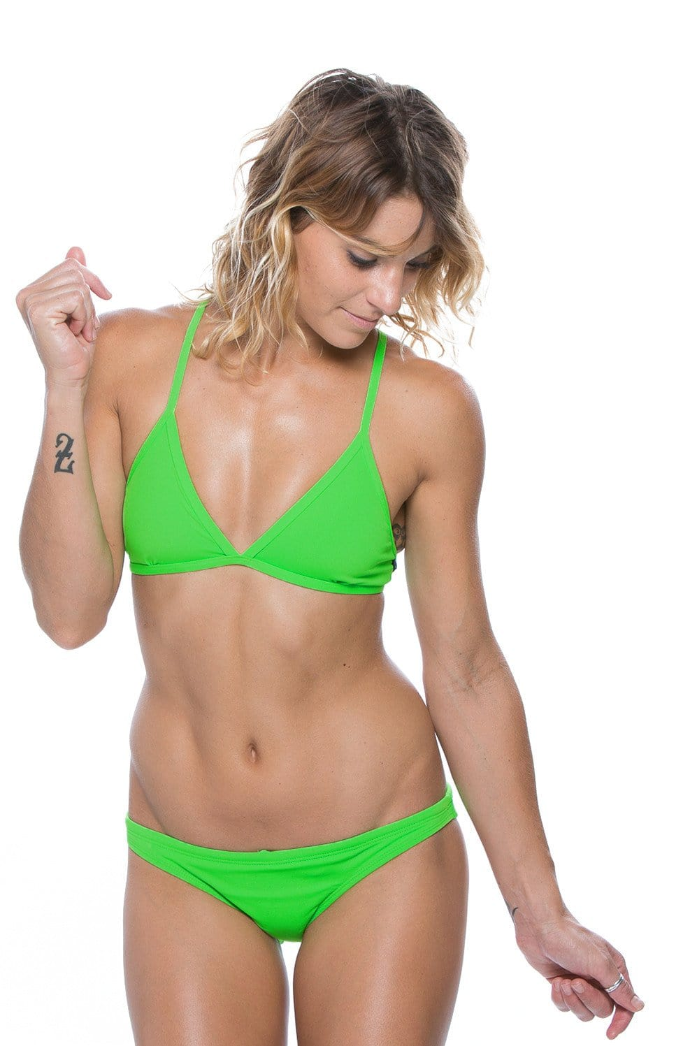 Europe Bikini Spodek - Lime