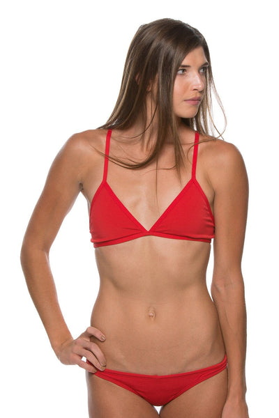 Triangle Bikini Top - Red