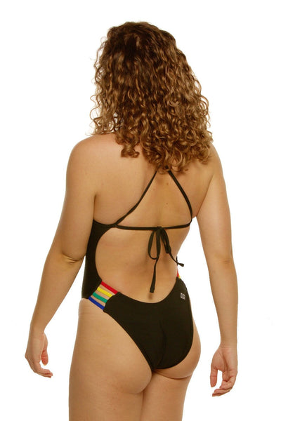 Gavin Swim Onesie - Black/Multicolor