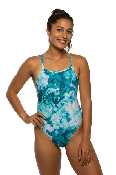 Brandon Swim Onesie - Flower Flake