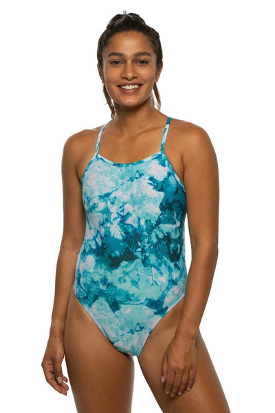 Jackson Swim Onesie - Flower Flake