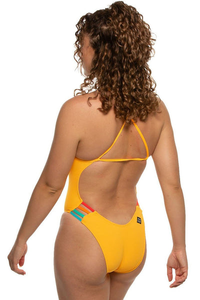 Julian Swim Onesie - Mango/Multicolor