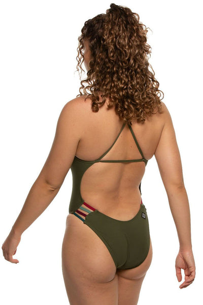 Julian Swim Onesie - Army/Multicolor