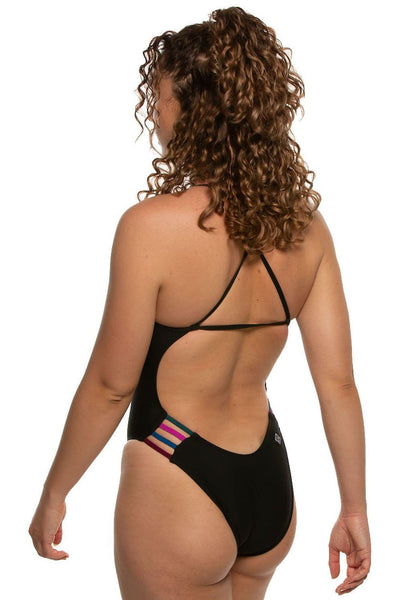 Julian Swim Onesie - Black/Multicolor
