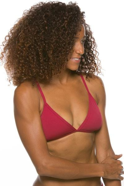 Triangle Bikini Top - Cranberry