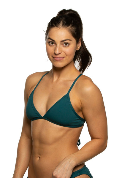 Triangle Bikini Top  - Peacock