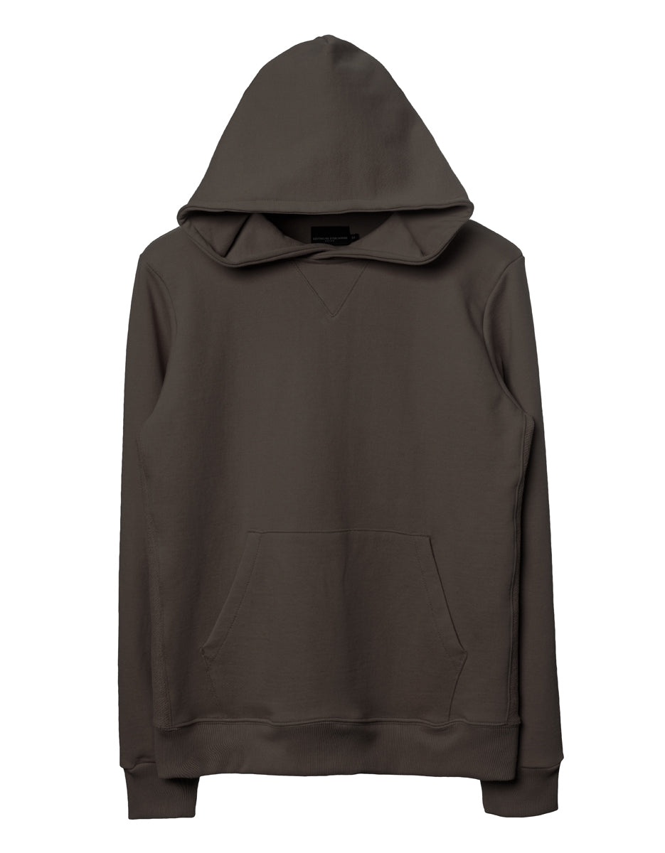 Dark Moss Side-Panel Hoodie