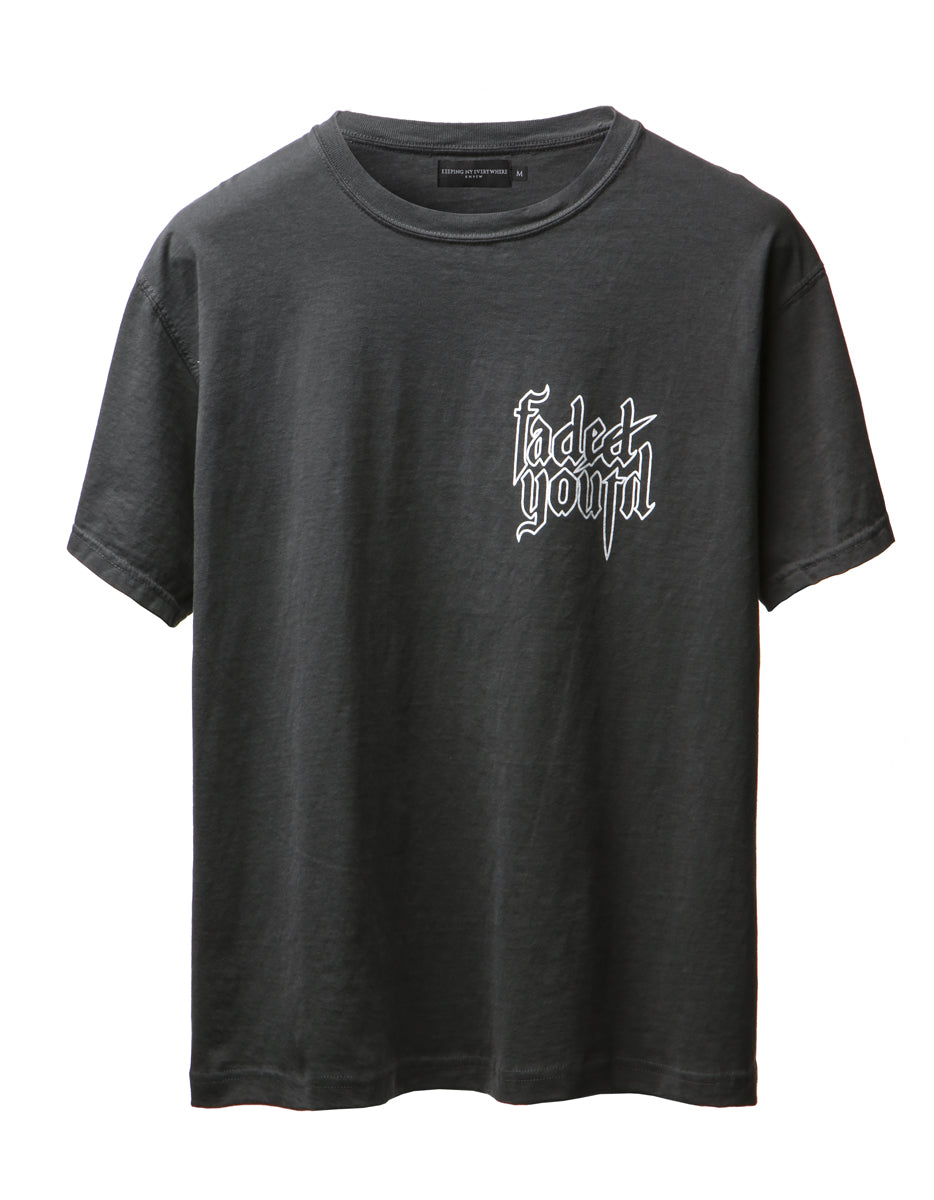 Faded Black Troubled Youth Tee