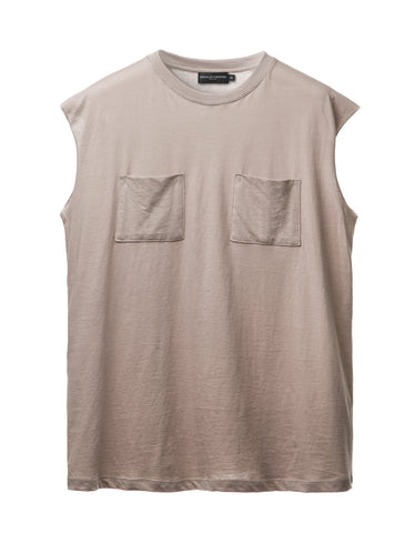 Mushroom Dual Pocket Sleeveless Tee