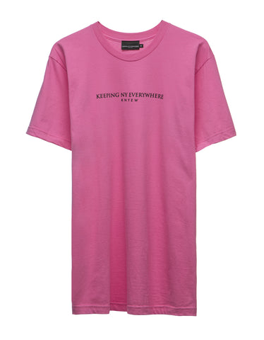 Fuschia Keeping NY Tee