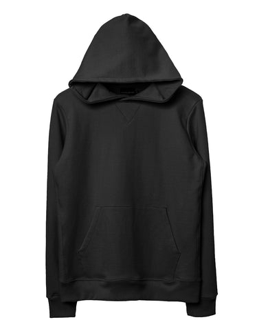 Black Side-Panel Hoodie