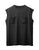 Black Dual Pocket Sleeveless Tee