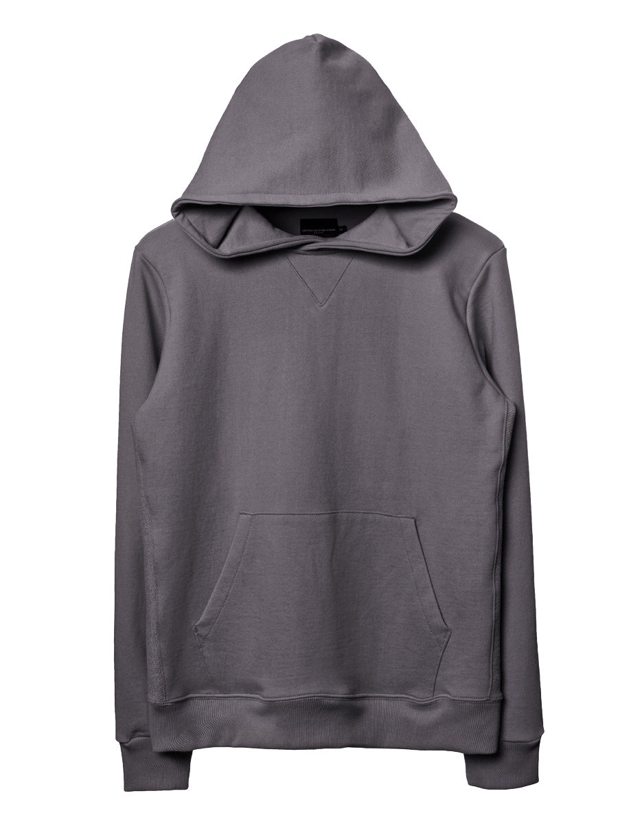 Charcoal Side-Panel Hoodie