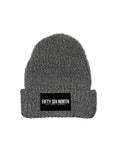 Cuffing Season Beanie (Grey/White)