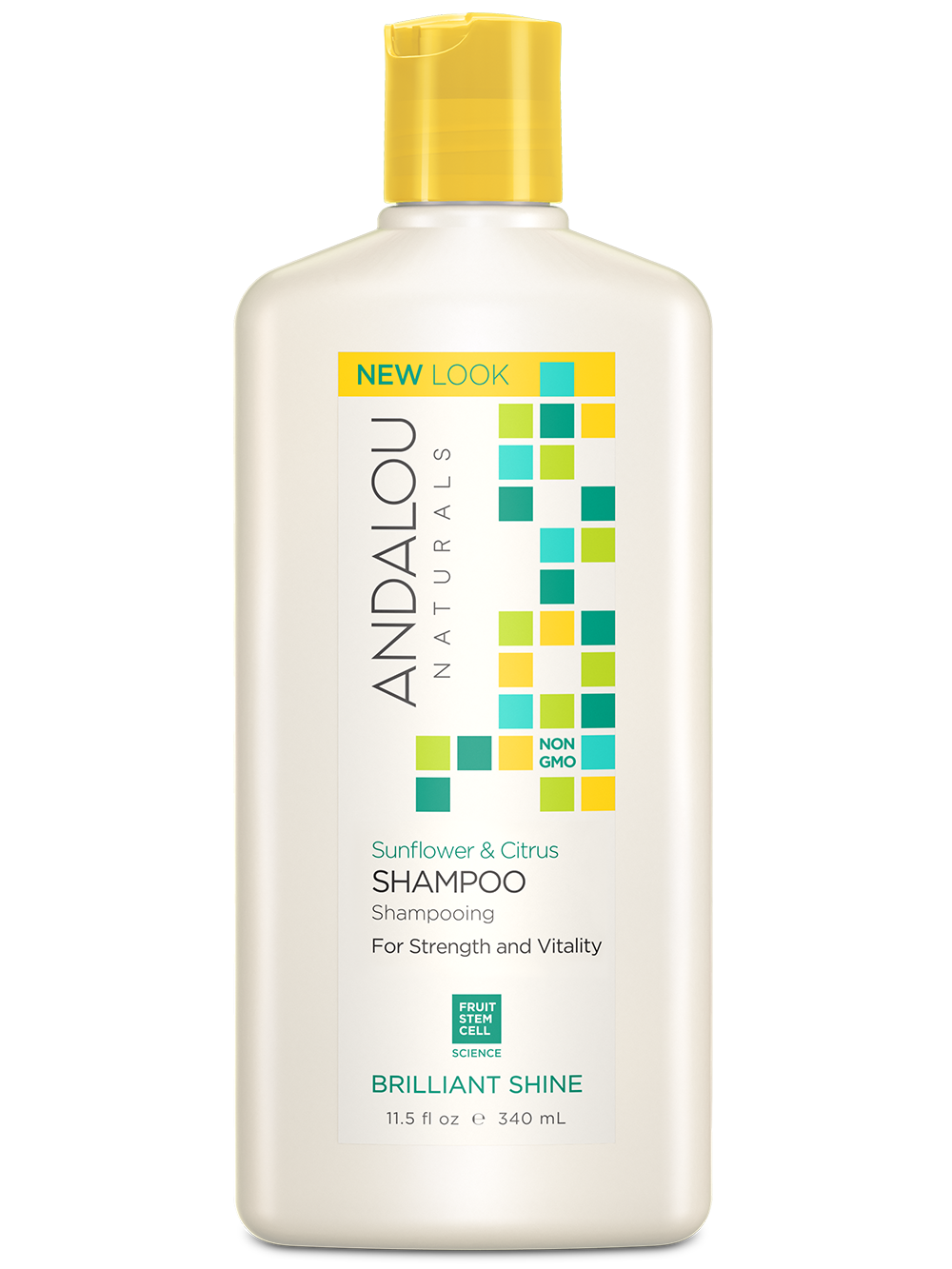 Andalou Naturals Sunflower & Citrus Brilliant Shine Shampoo - Harvest Haven