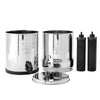 disassembled home gravity water filter by Berkey