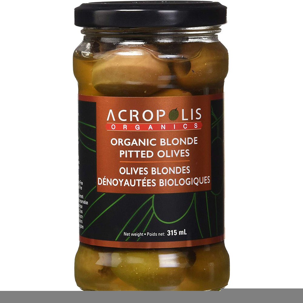 Acropolis Organic Pitted Blonde Olives