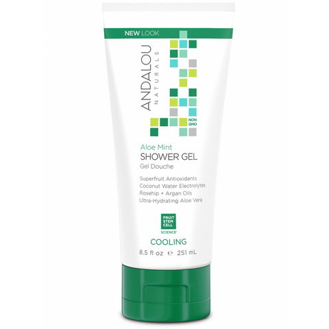 Andalou Naturals Aloe Mint Cooling Shower Gel - Harvest Haven