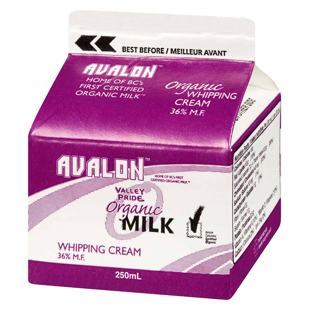 Avalon Organic Whipping Cream