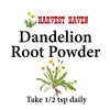 Dandelion Root Powder - Organic health food supplement for a healthy liver -Harvest Haven
