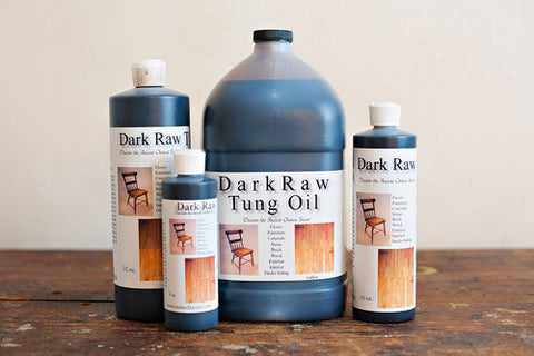 Dark Tung Oil - natural and non-toxic pure tung oil available Harvest Haven