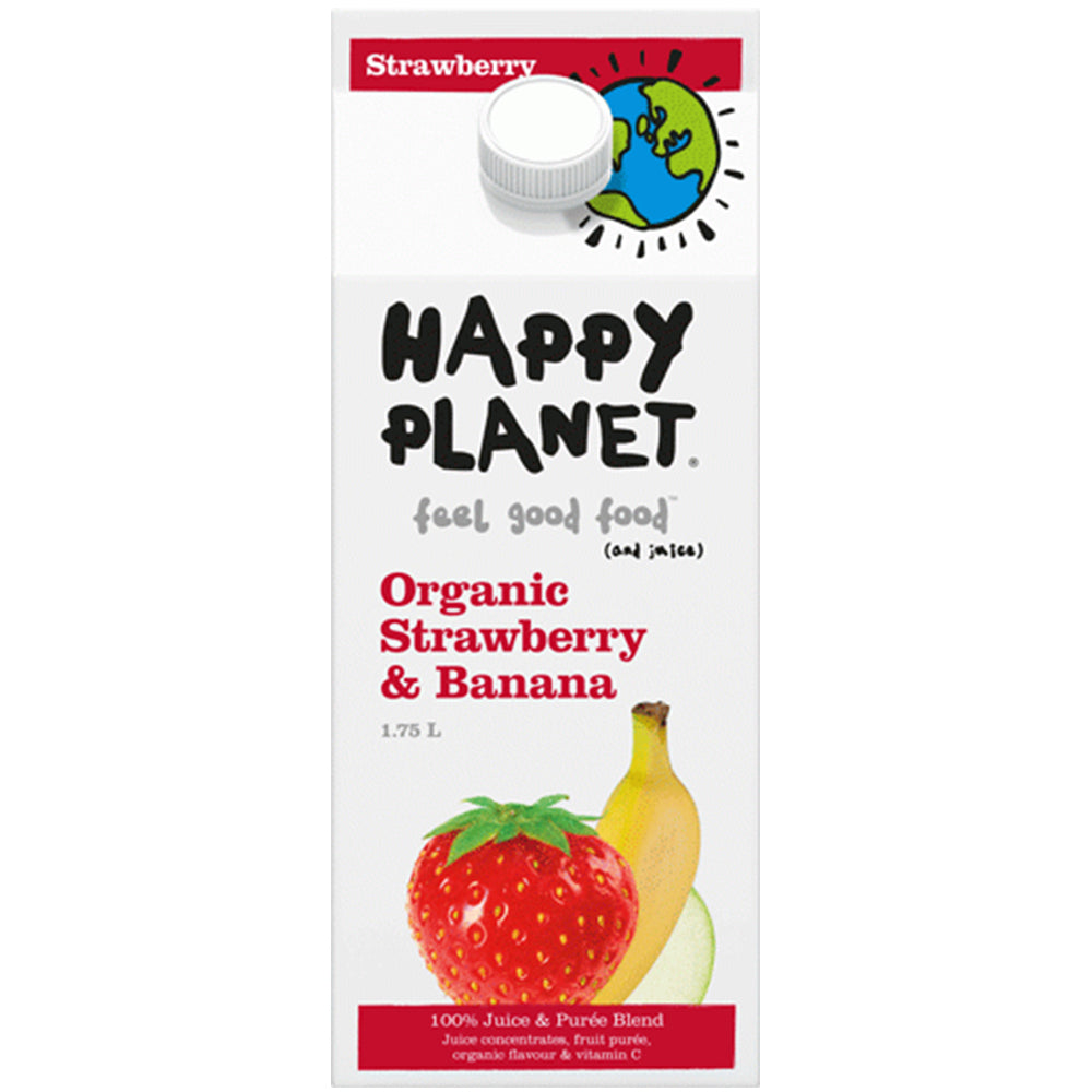 Happy Planet Organic Strawberry Banana Juice, 1.75 L