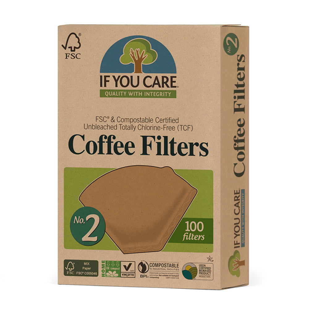 If You Care Unbleached #2 Coffee Filters