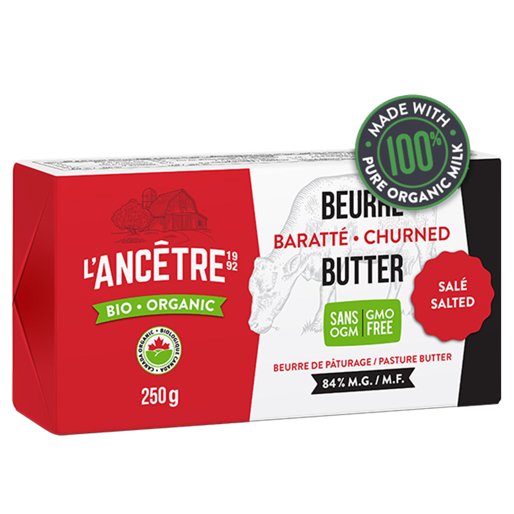 L'Ancetre Organic Salted 1/2 lb Butter