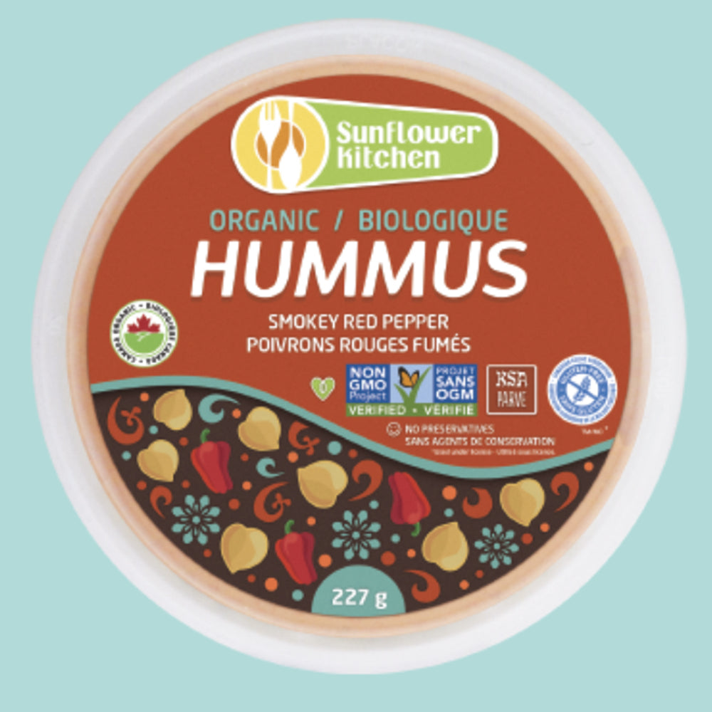 Organic Sunflower Kitchen Smokey Red Pepper Hummus, 227 g