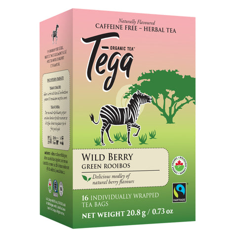 Tega Organic Wildberry Green Rooibos tea