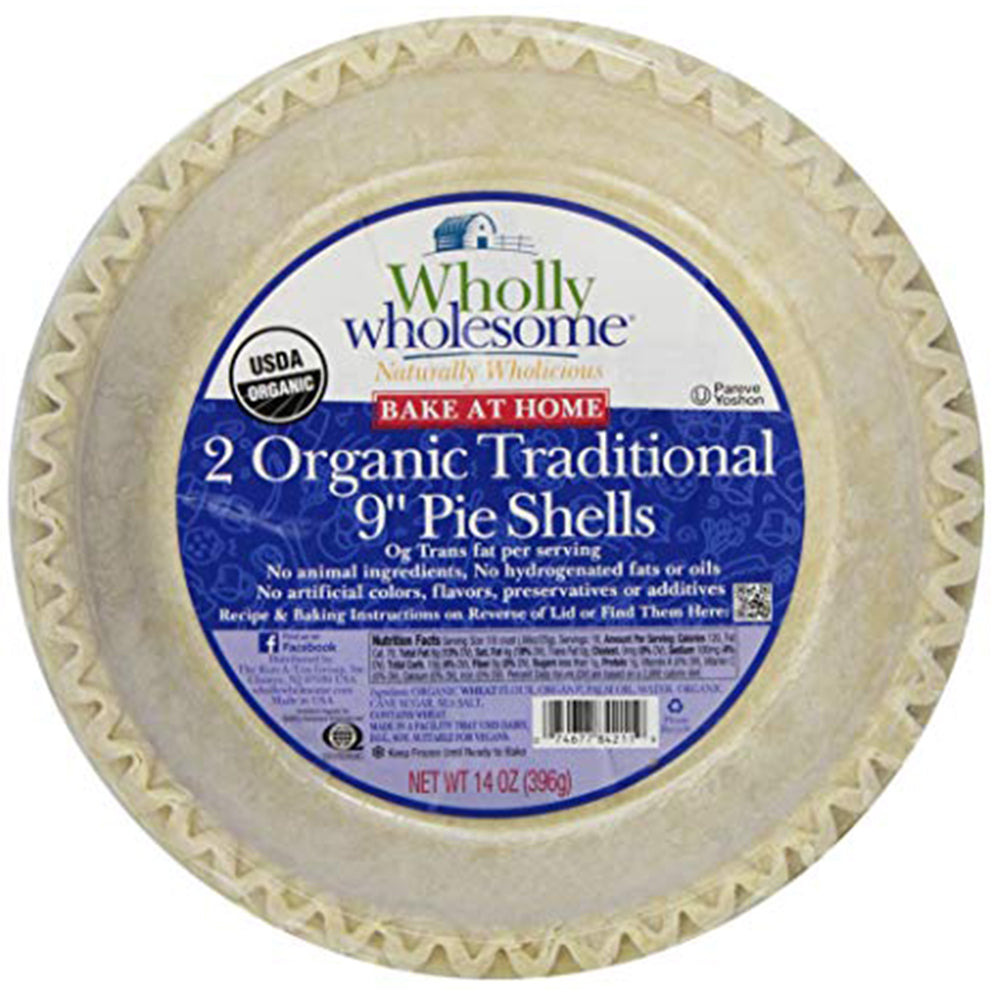 Organic Wholly Wholesome Pie Crusts, 396 g