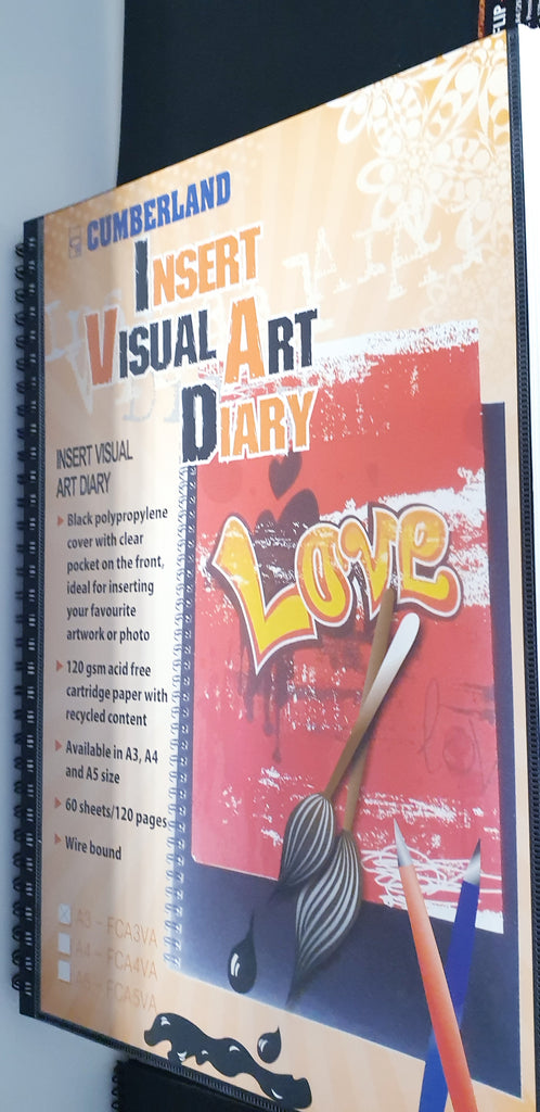 Visual Art Diary A3 with Insert Cover