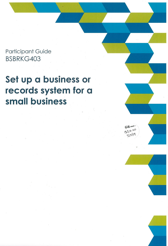 Set up a business or records system for a small business