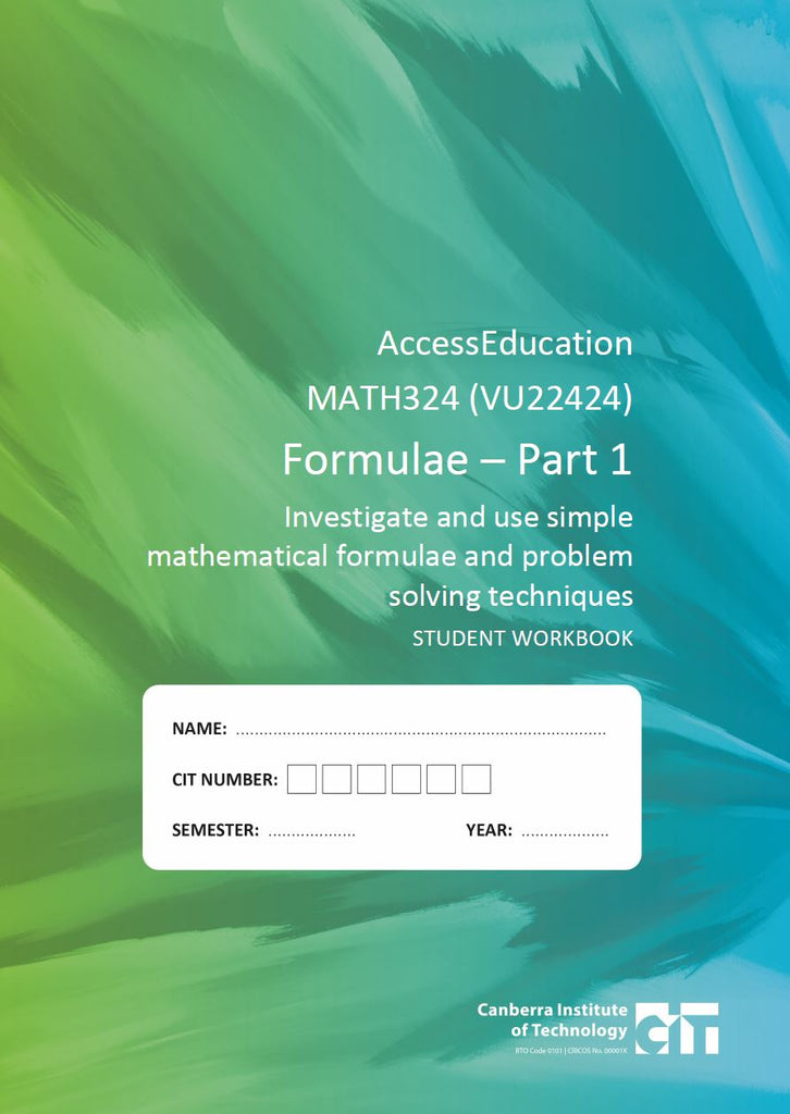 General  Education Math 324 Formulae Part 1