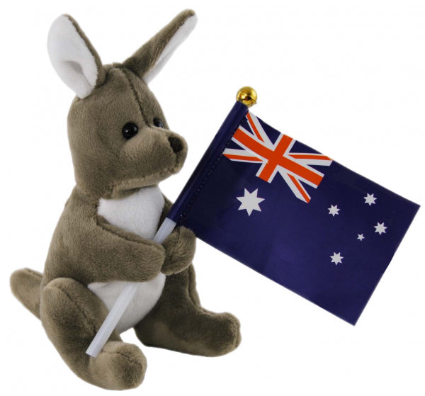 Kangaroo with Flag 13CM
