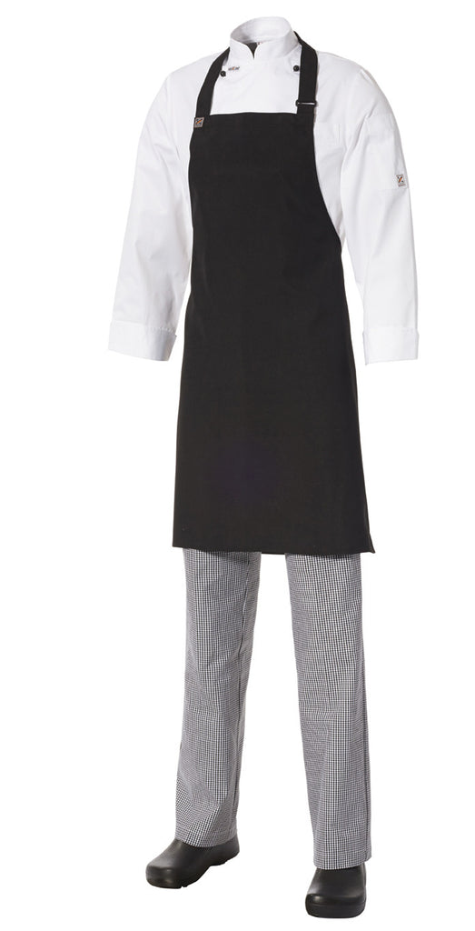 Apron Black Bib Heavyweight Cotton