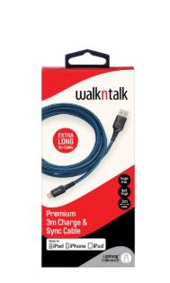Walk and Talk Premium Charge and Sync Cable Lightning Connector