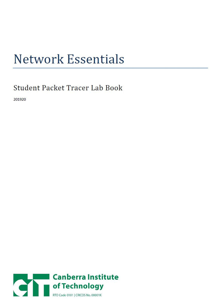 Network Essentials Packet Tracer Manual