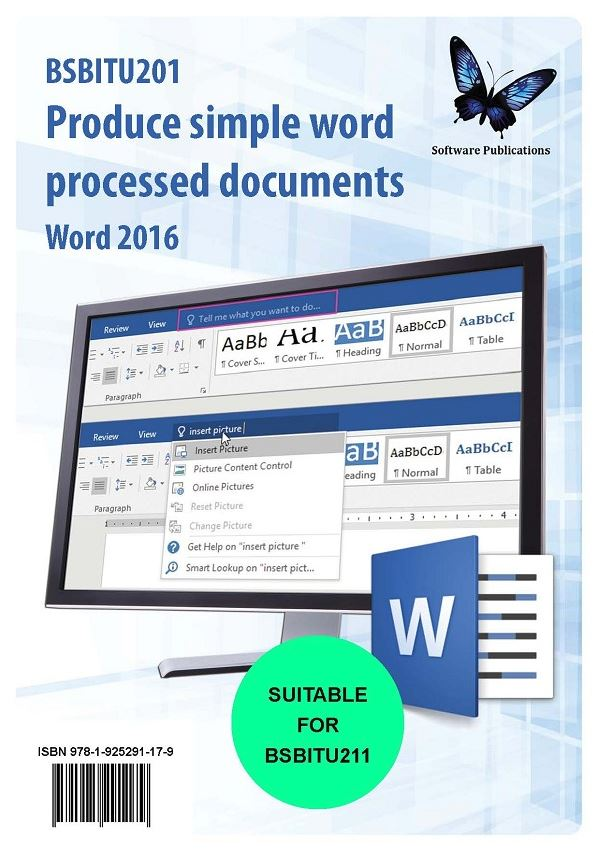 Produce Simple Word Processed Documents Word 2016