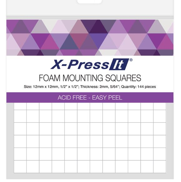Foam Mounting Squares 12x12mm 144pce